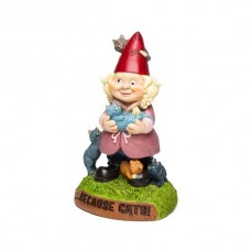 The Crazy Cat Lady Garden Gnome