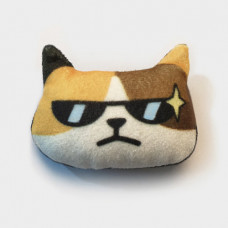 Cool Cats Plush Cat Brooch #11