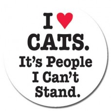 Button - 'I Heart Cats It's People I Can't Stand'