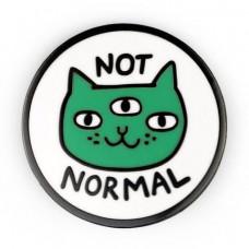 Not Normal Cat Enamel Pin
