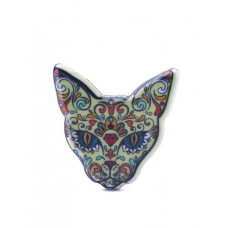 Colourful Sphynx Cat Pin