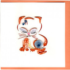 Quilled Oriental Cat Card