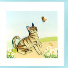 Quilled Tabby Cat Card