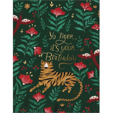 Card - Foil Tiger Birthday