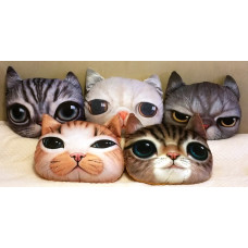 Plush Cat Face Cushions