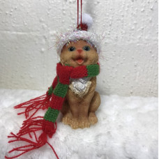 Hanging Christmas Decoration - Ginger Kitty