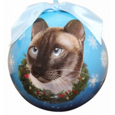 Hanging Christmas Bauble - Siamese Cat