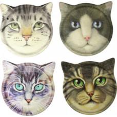 Cat Face Coaster Set
