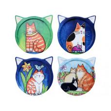 Cat Paintings Coaster Set