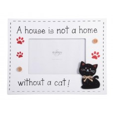 A House is Not a Home Without a Cat Frame