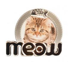 Silver Meow Photo Frame
