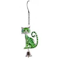 Hanging Cat Garden Bell