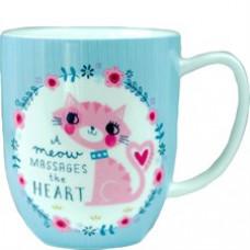 A Meow Massages the Heart Mug