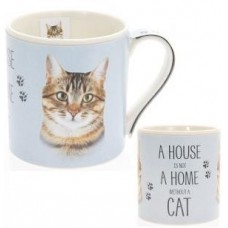 A House Is Not A Home Without A Cat Mug - Tabby Cat