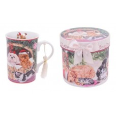 Christmas Cats & Dogs Mug in Gift Box