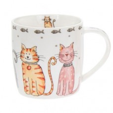 Faithful Friends Cat Mug - Large Cats