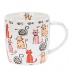 Faithful Friends Cat Mug - Multi Cats