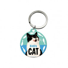 Happy Cat Keychain