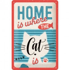 Home Is Where The Cat Is Sign