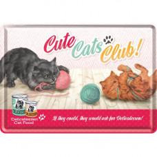 Metal Card - Cute Cats Club