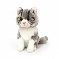 Mini Plush - Monty the Grey Tabby Cat