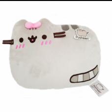 Pusheen Cushion Lying - Pink Bow (Embarrassed)