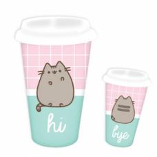 Pusheen Travel Mug - Hi & Bye