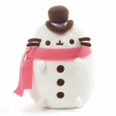 Pusheen Snowman with Top Hat & Scarf
