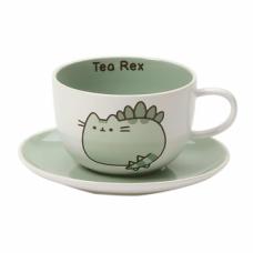 Pusheen Tea Rex Teacup & Saucer Set