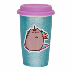 Pusheen Ceramic Travel Mug - Glitter Pusheenicorn