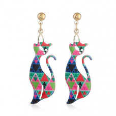 Contempo Cat Earrings - Geometric