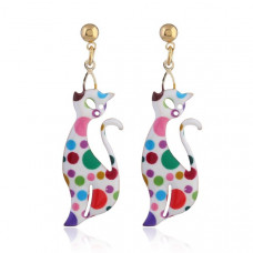 Contempo Cat Earrings - Spotty