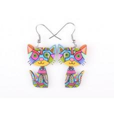 Bright Cat Acrylic Earrings