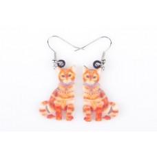 Miss Ginger Tabby Acrylic Earrings