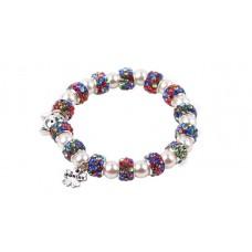 Multi-Coloured Crystal Bead Cat Bracelet