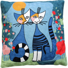 Picasso Blue Cats Cushion