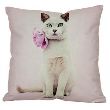 Violet Flower Cat Cushion