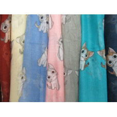 Cartoon Kitty Scarf