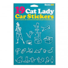 Cat Lady Car Stickers