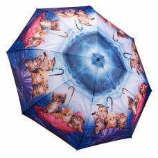 Galleria Kittens Ahoy Automatic Folding Umbrella