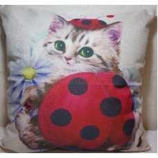 Lady Beetle Baby Cushion