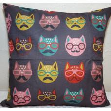 Moustache Cats Cushion
