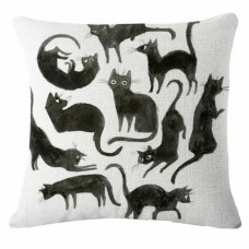 Many Black Cats Cushion