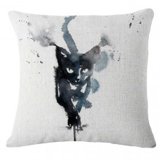 Dripping Paint Cat Cushion