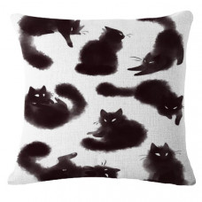 Smokey Black Cats Cushion