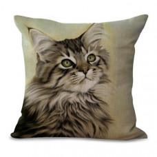 Longhaired Tabby Cat Cushion