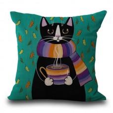 Cat Coffee Cushion