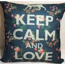 Keep Calm And Love Cats Cushion