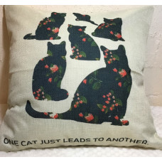 One Cat Just Leads to Another Cushion