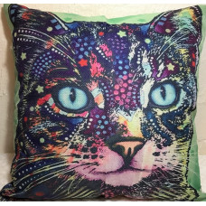 Technicolour Cats Cushion #1